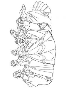 Princesses Coloring Pages Free