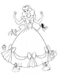Princesses Coloring Pages Free Printable