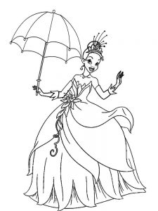 Princesses Colouring Pages Printable