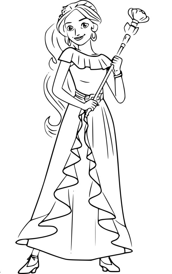 Print Elena of Avalor Coloring Pages