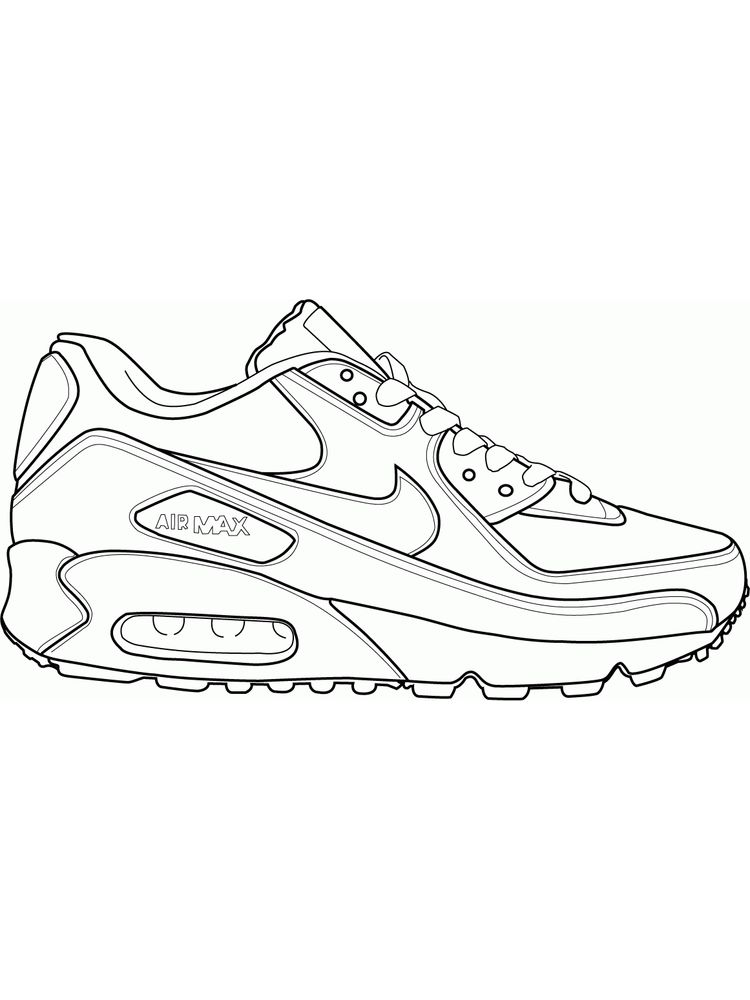 Print Shoes Coloring Page
