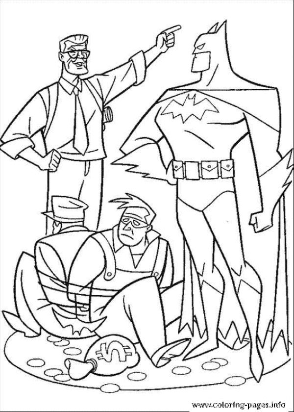 Printable Batman Hero Coloring Pages Printable