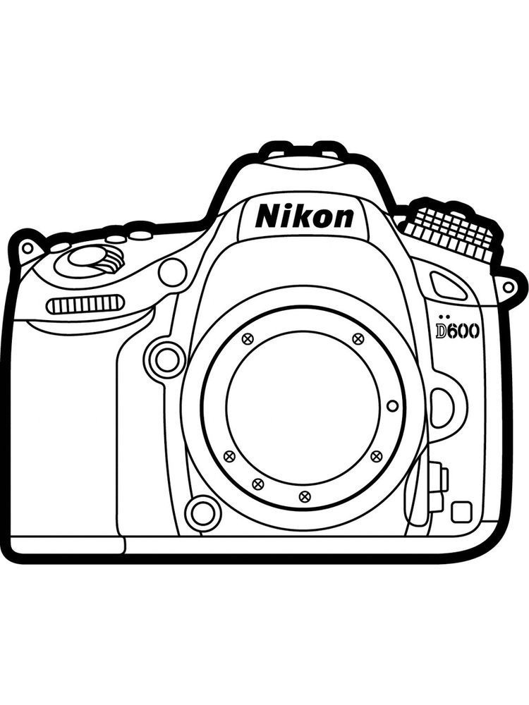 Printable Coloring Page Camera