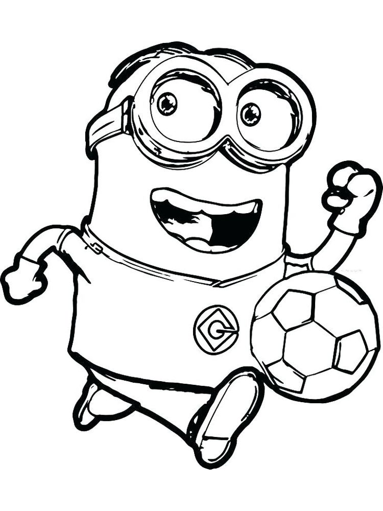 Printable Coloring Page Of Soccer Balls
