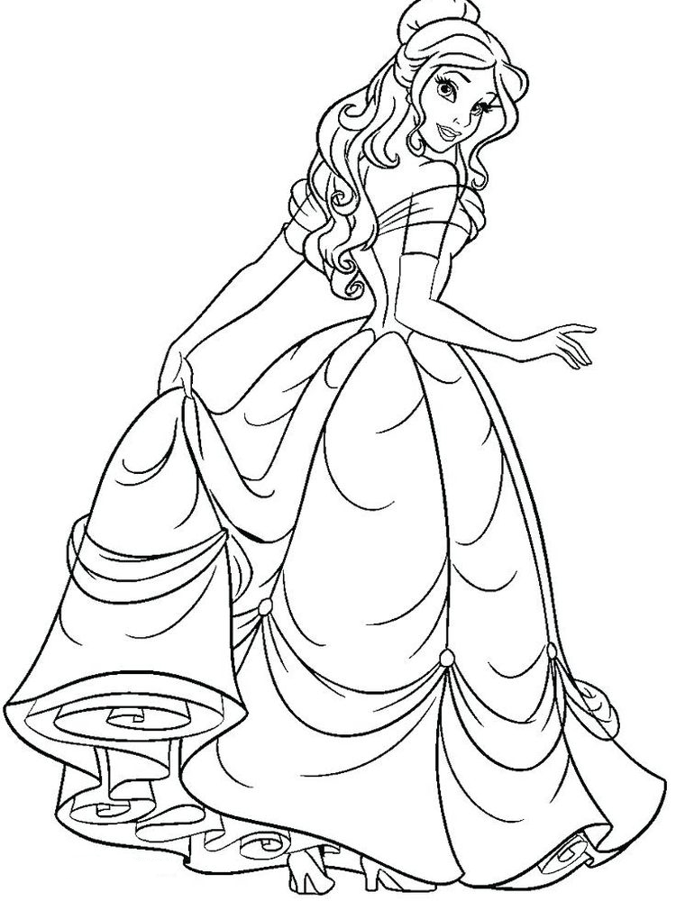 Printable Coloring Pages Of Disney Princesses