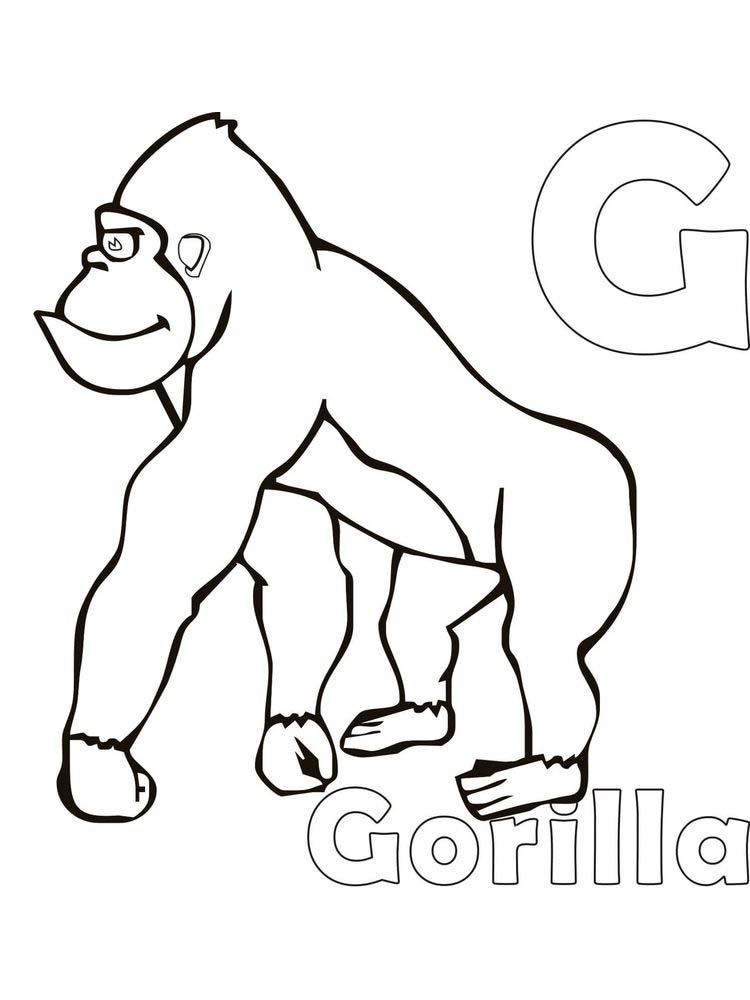 Printable Coloring Pages Of Gorillas