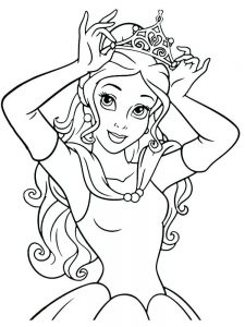 Printable Coloring Pages Of Princesses