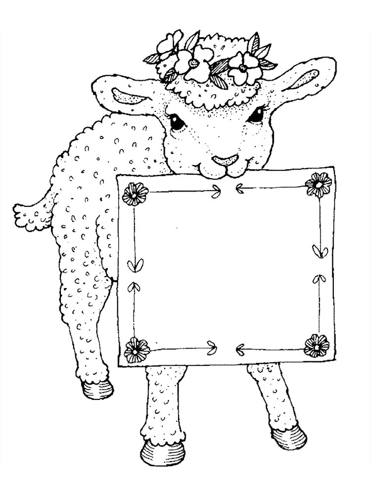 Printable Coloring Pages Of Sheep