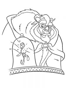 Printable Disney Beauty And The Beast Coloring Pages