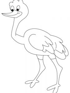 Printable Ostrich Coloring Page