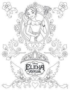 Printable Princess Elena of avalor coloring and drawing