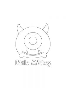 Printable TSUM TSUM Little MickeyHi