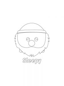 Printable TSUM TSUM Sleepy Hi