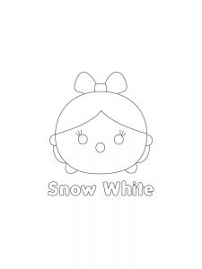 Printable TSUM TSUM Snow White Hi