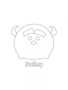 Printable TSUM TSUM Sulley Hi