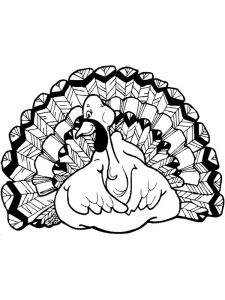 Printable Turkey Coloring Pages For Preschoolers