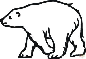 Printable polar bear coloring pages for kids