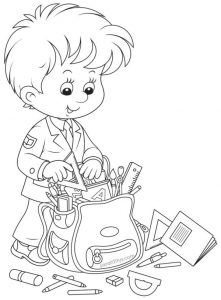 Printable ready back to school coloring pages