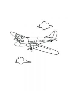 Propeller Plane Coloring Pages