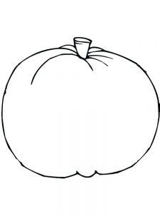 Pumpkin Coloring Page Black And White