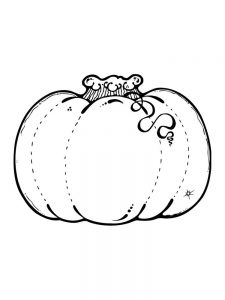 Pumpkin Coloring Pages For Kindergarten