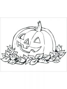 Pumpkin Coloring Pages Template