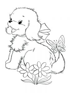 Puppy Coloring Pages Christmas