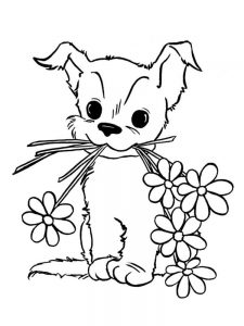 Puppy Coloring Pages For Toddlers
