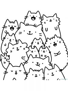 Easy Pusheen Coloring Pages Free Coloring Sheets