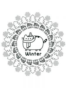 Pusheen Coloring Pages Free