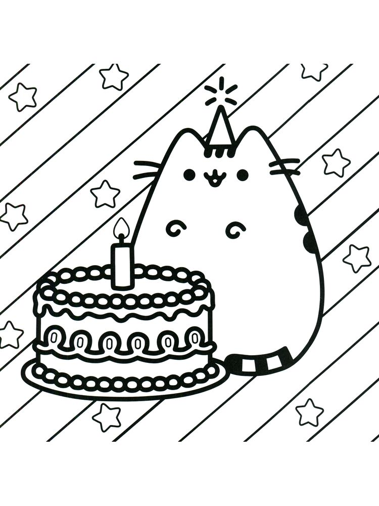 Pusheen Coloring Pages Mermaid