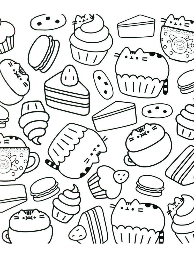 Pusheen Coloring Pages Pdf