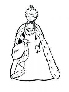 Queen Coloring Page Name