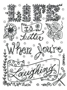 Quotes Coloring Pages For Adults Pdf