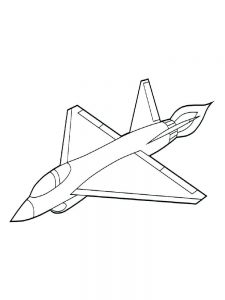 Realistic Airplane Coloring Pages