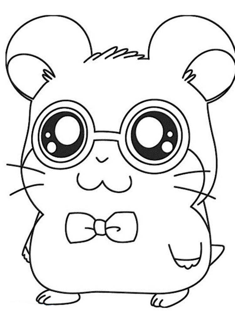 Realistic Hamster Coloring Pages