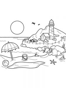Realistic Lighthouse Coloring Pages