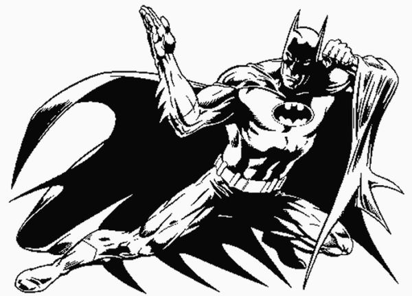 Realistic the dark knight batman coloring pages