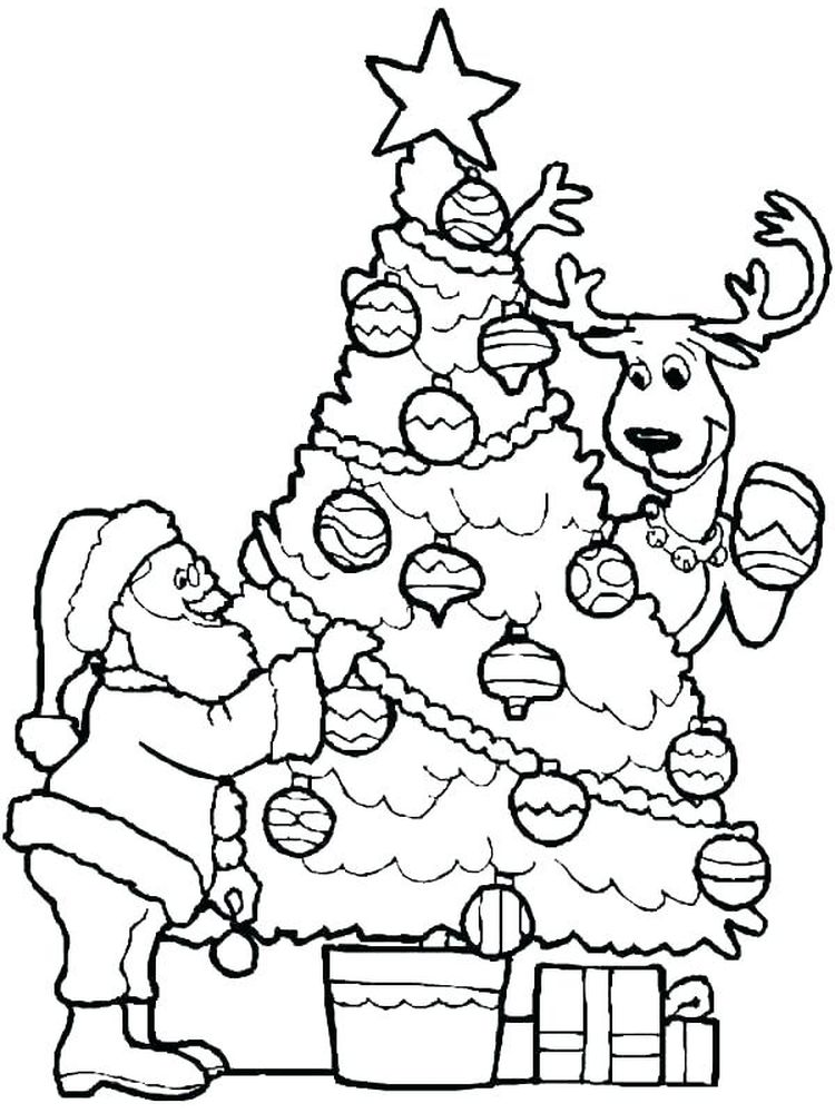 Reindeer Coloring Page Cut Out