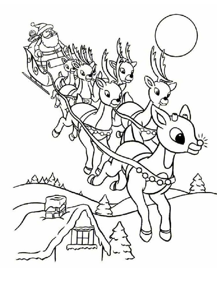 Reindeer Coloring Pages For Toddlers