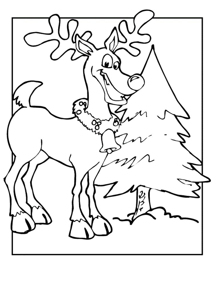 Reindeer Coloring Pages Free Printable