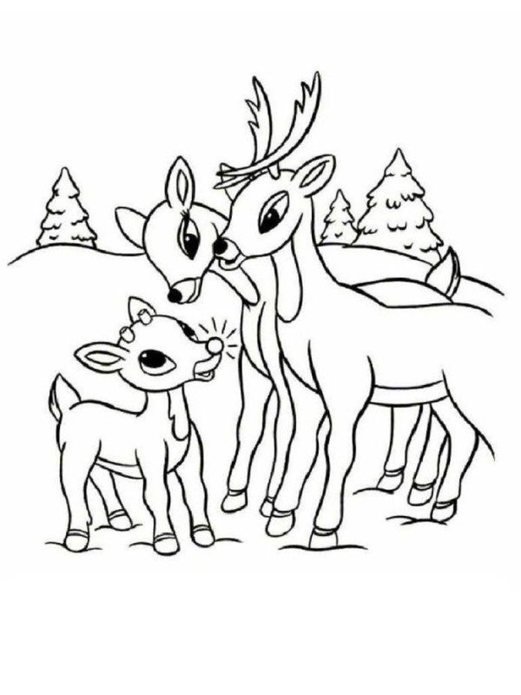Reindeer Coloring Pages Supercoloring