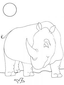 Rhino Coloring Pages For Toddlers