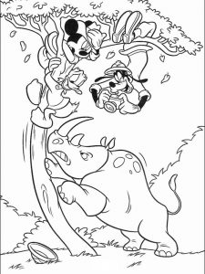 Rhino Coloring Pages Printable