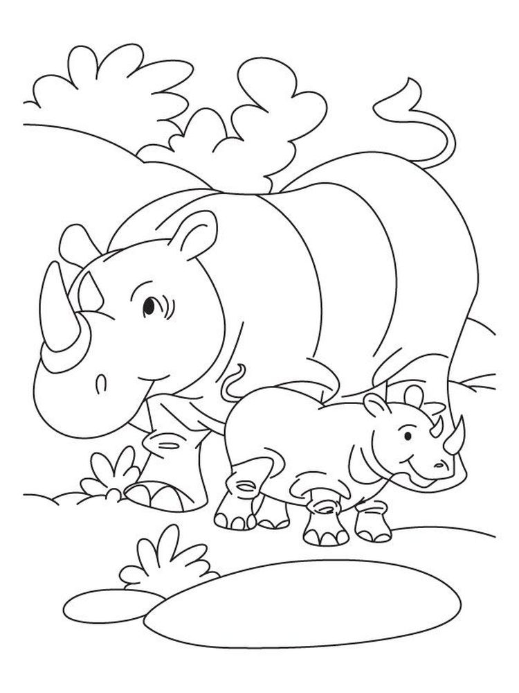 Rhinoceros Coloring Pages Printable