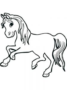 Riding A Horse Coloring Pages