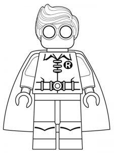 Robin the lego movie coloring pages