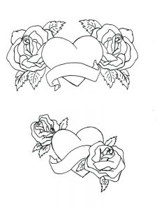 Rose Coloring Book Page