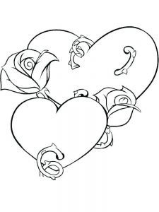 Rose Coloring Page For Adults