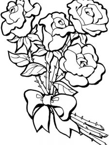 Rose Coloring Pages For Adults